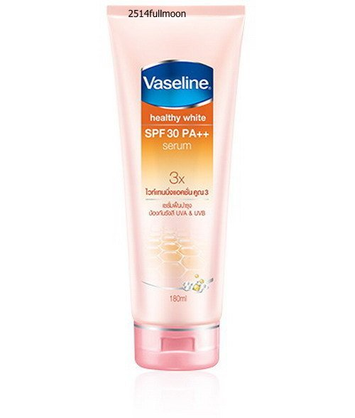 180 ml. Vaseline Healthy White Skin Whitening Body Lotion Serum SPF30