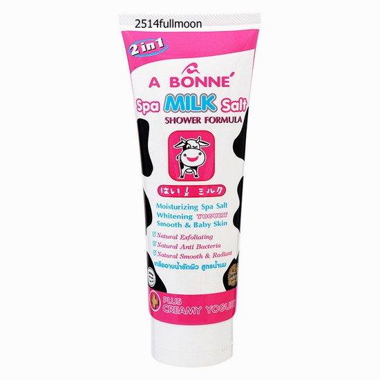 350 g. A BONNE Spa Milk Salt Shower Formula 2 in1 Plus Creamy Yogurt Natural