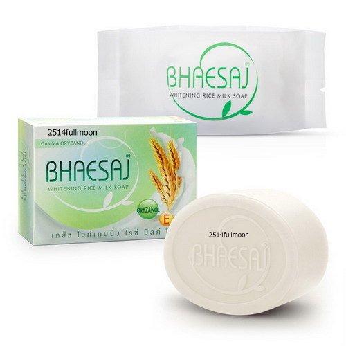 130 g. Bhaesaj Whitening Soap Bar Whitening Rice Milk