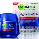 50 ml. GARNIER AGELESS WHITE Anti aging & Whitening Miracle Cream NIGHT