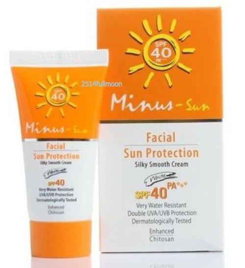25 g. Minus Sun Facial Protection SPF40 PA+++ Ultra Protect Silky Smooth Cream WHITE