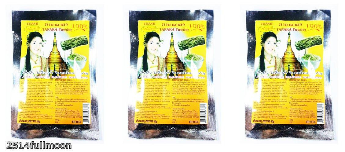 3X 20 g. Thanaka Anti Acne Dark Spots Anti Aging Face Mask Powder