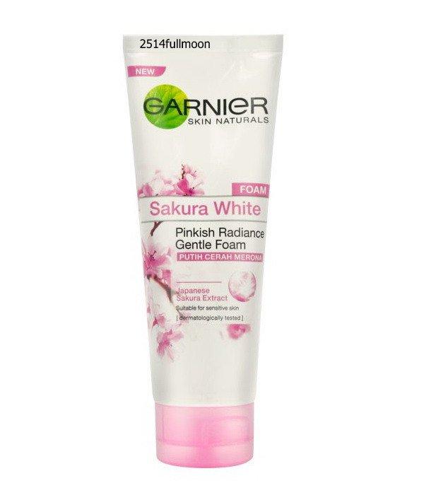 100 g.Garnier Sakura White Foam Pinkish Radiance Gentle Cleansing Face Wash