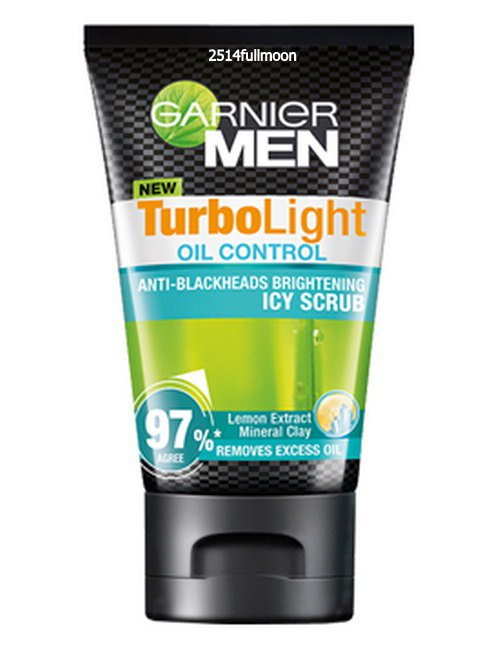 100 g. Garnier Men TurboLight Oil Control Anti Blackheads Brightening Icy Scrub Foam