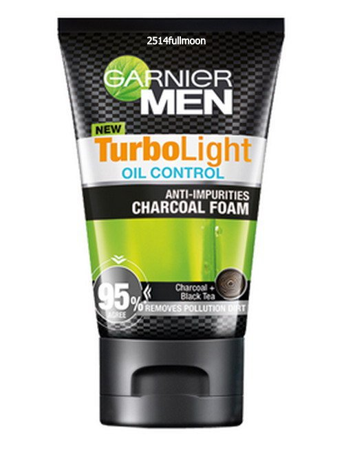100 g. Garnier Men TurboLight Oil Control Anti- Impurifies Charcoal  Foam