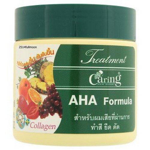 250 ml. Caring Treatment AHA Formula Repair Hair With Collagen