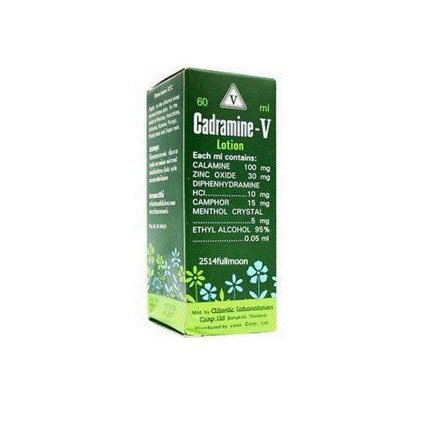 60 ml. Cadramine-V Lotion Relief Pruritus Insect bite Urticaria Rash Itchy skin
