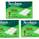 3 Packs 30 Plasters NEOBUN Menthol Plaster PAIN RELIEF Muscle Joint Ache