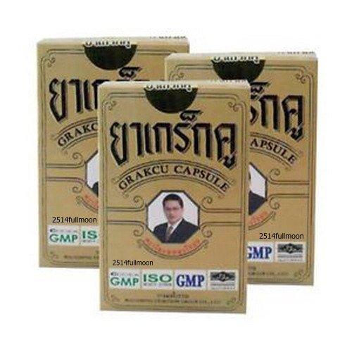 3 Boxes 18 Capsules Herbal Capsules Grakcu For Men Sexual Supplement Tonic Penis Erection