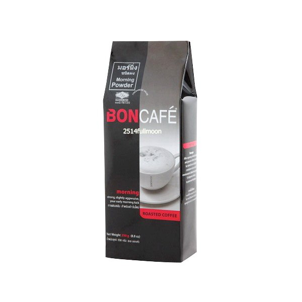 250 g. BONCAFE Coffee MORNING POWDER Roasted Ground Coffee Powder Made in Thailand