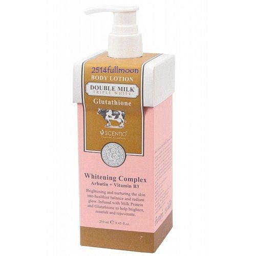 250 ml. Scentio Double Milk Triple White Body Lotion Glutathione Whitening