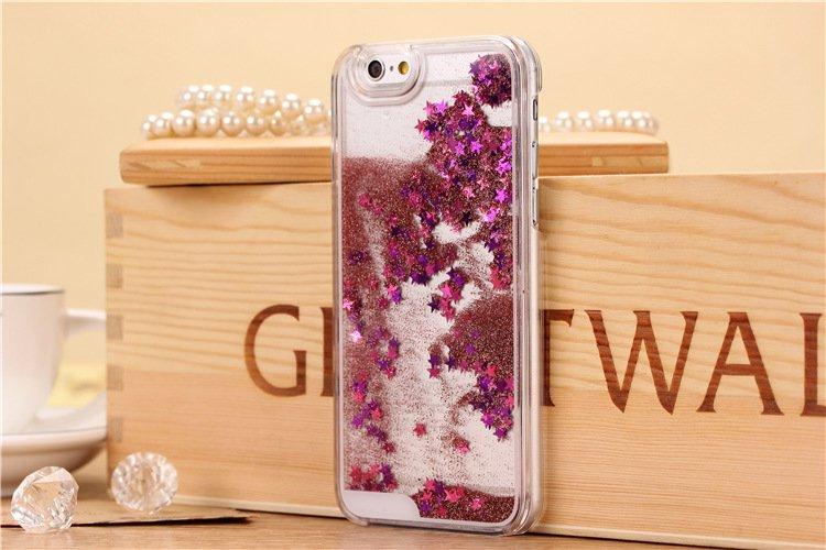 Pink liquid glitter iPhone 6 case
