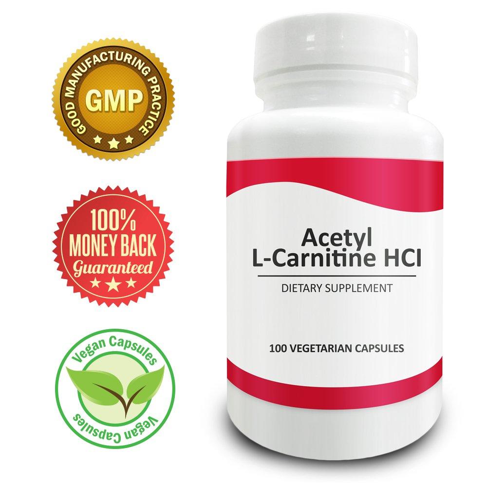 Pure Science Acetyl L-Carnitine HCI 525mg - Immunity, Detox & Brain Support