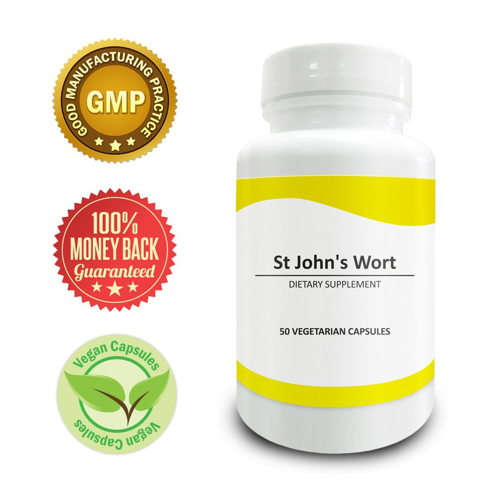 Pure Science St Johns Wort 500mg � Reduces Depression, Anxiety & Regulates Mood