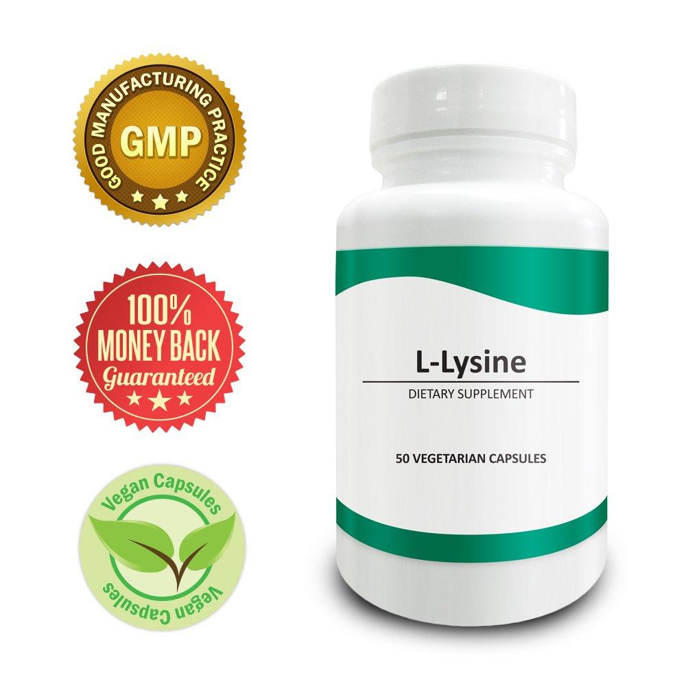 Pure Science L-Lysine 750mg - Immunity Booster & Regulates Mood