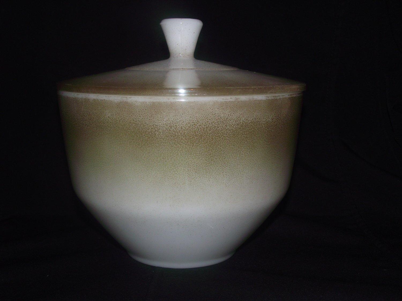 Federal Glass Mesa Moss Brown Opal Heat Proof Drip Grease Jar
