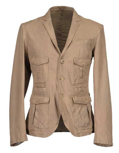 Rhythm Beige Leather Jacket