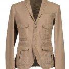 Rhythm Beige Leather Jacket
