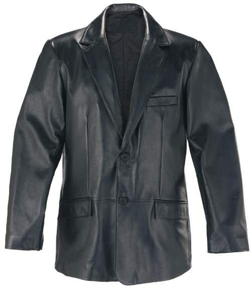 Rhythm Black Leather Blazer