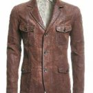 Rhythm Brown Leather Blazer