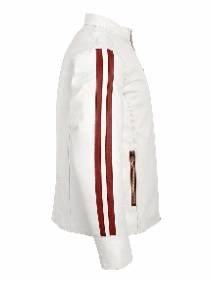 Rhythm White and red Leather Jacket