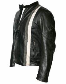 Rhythm Black,Grey and White Leather Jacket