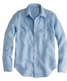 Rhythm Light blue long sleeve shirt