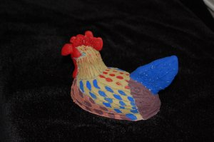 Luis, the hen rooster