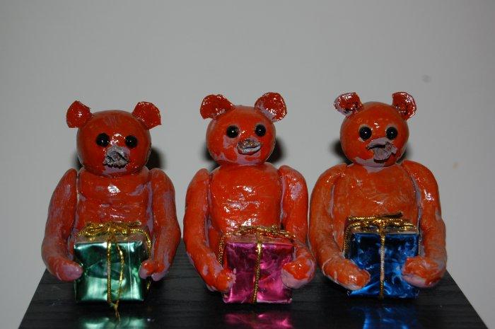 3 Petite Christmas Bears