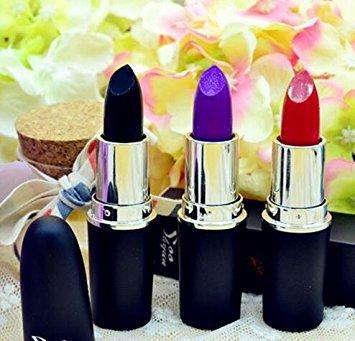 3 Pk lipstick (Black, Purple, Red)