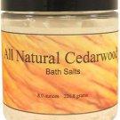 All Natural Cedarwood Bath Salts