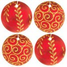 Red Christmas Ornament Car Air Fresheners, 4 Pack