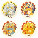 Turkey Car Air Freshener, Assorted Turkeys, 4 Pack