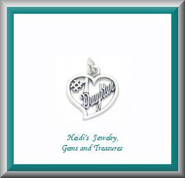 Childrens Jewelry #1 Daughter Heart Sterling Necklace/ Free Shipping