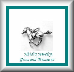 Children's Jewelry Galloping Mustang Sterling Silver Necklace/ Free Shipping