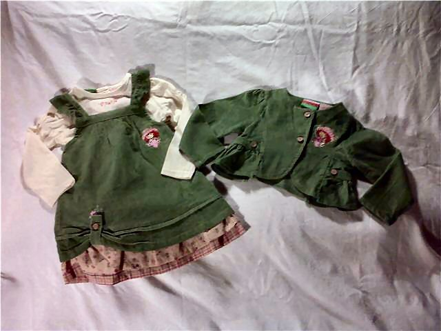 NWT Strawberry Shortcake Dress Sz 18M/Dress Shirt Jacket/Free Shipping