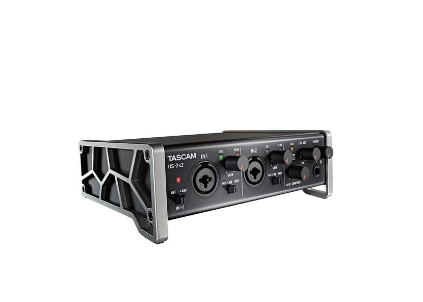 Tascam US-2x2 2-Channel USB Digital Audio Recording Interface - 24-bit