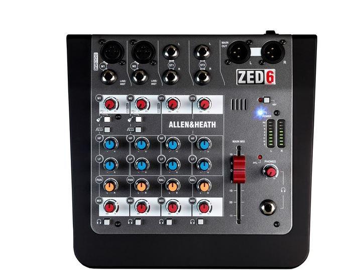 Allen & Heath ZED-6 Compact Analog Audio Mixer 6-channel