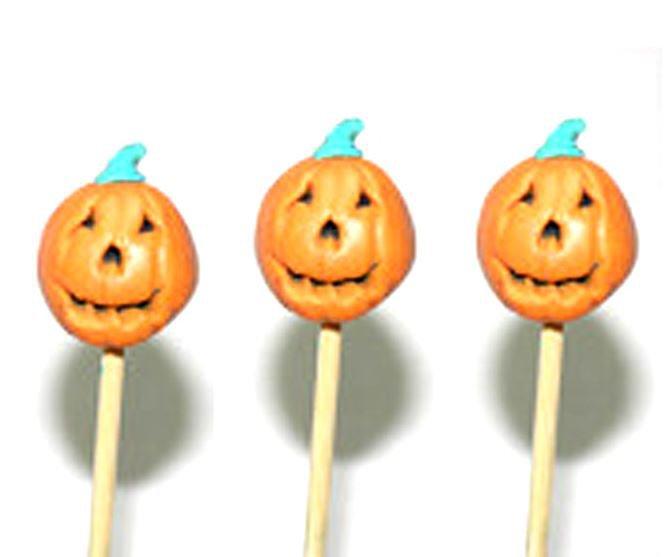 Haloween Pumpkin Toothpicks