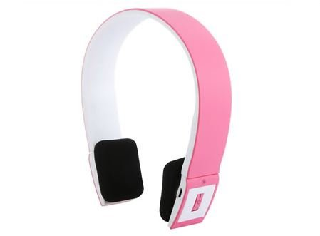 Bluetooth 3.0 EDR 2.4G Wireless Stereo Headset For Smartphone - Pink