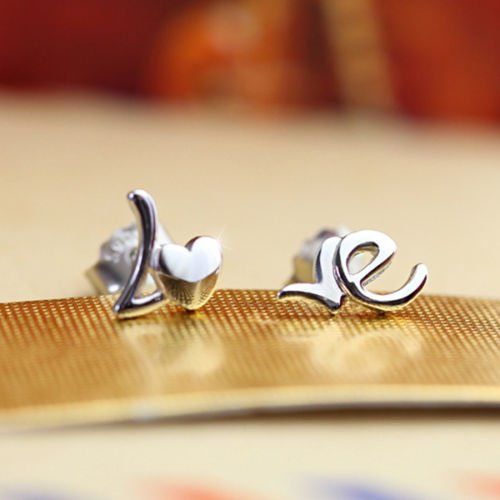New-Women-Lady-925-Sterling-Silver-Heart-LOVE-Ear-Stud-Earrings-Jewelry-Gift