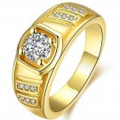 Fashion 18K Real Yellow old Plated Hiphop Men olden Rings Hip Hop Punk Rock Jewelry Bar Club Me