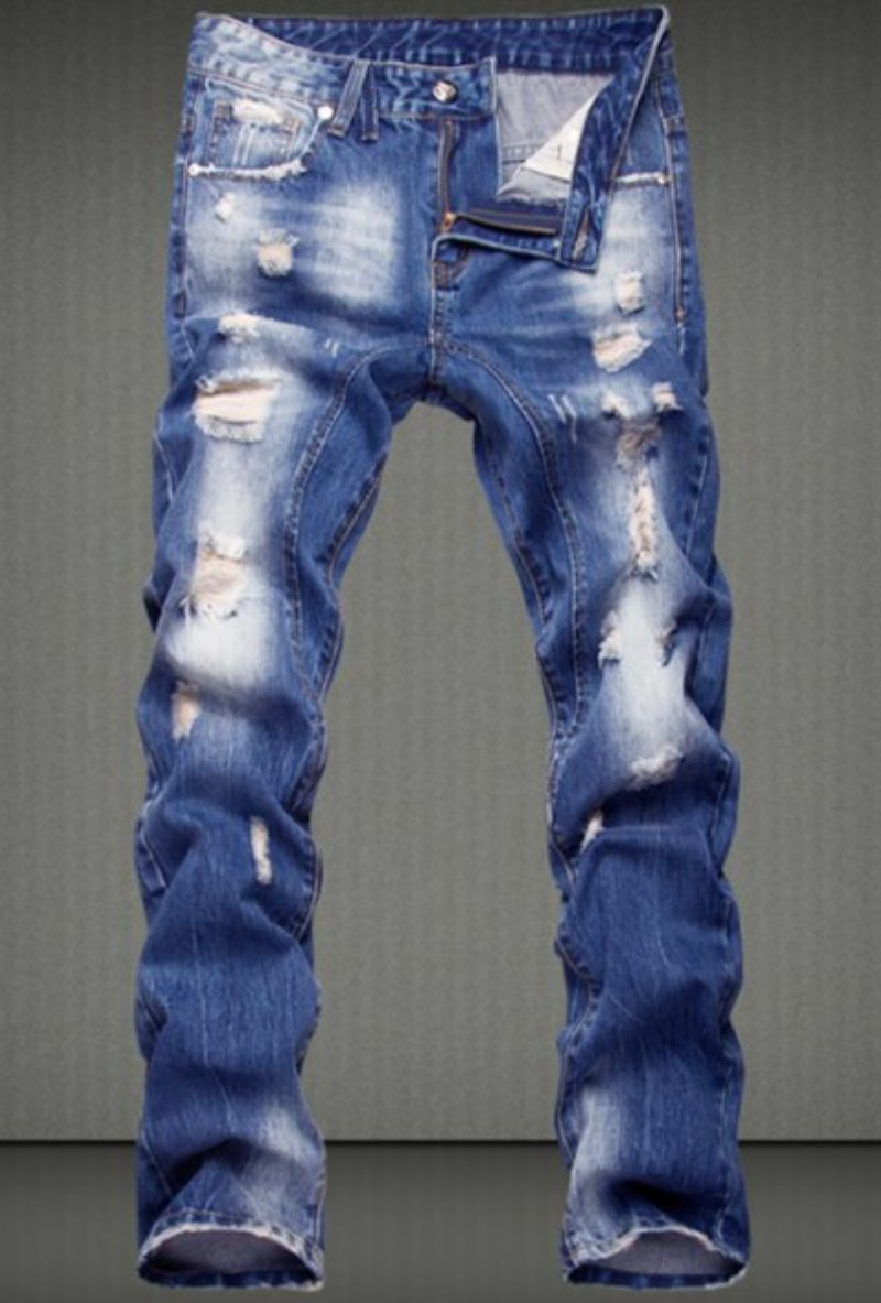 Casual Ripped Straight Legs Denim jeans