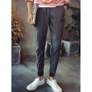 0 Lace-Up Zipper Design Beam Feet Nine Minutes of Jogger Pants