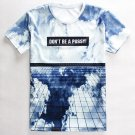 3D Sky Print Round Neck Short Sleeves T-Shirt For Men