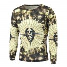 Round Neck Long Sleeve 3D Figure Print T-Shirt