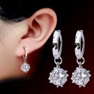 Pair of Square Faux Zircon Earrings