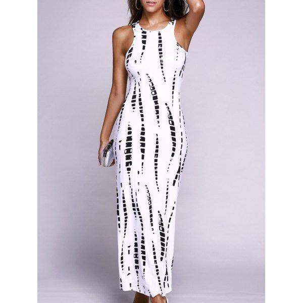 Stunning Sleeveless Cutout Slimming Illusion Dress For Women