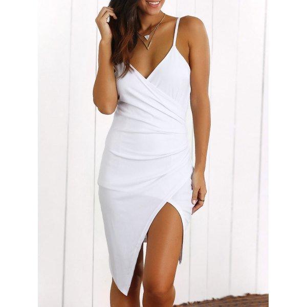 Surplice Slit Cami Dress