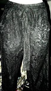 FOREIGN EXCHANGE BLACK LACE LEGGINGS WITH TAGS WOMENS SIZE S